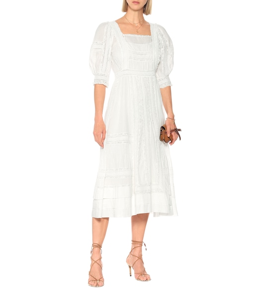 Polo Ralph Lauren - Exclusive to Mytheresa – Lace-trimmed midi dress - mytheresa.com