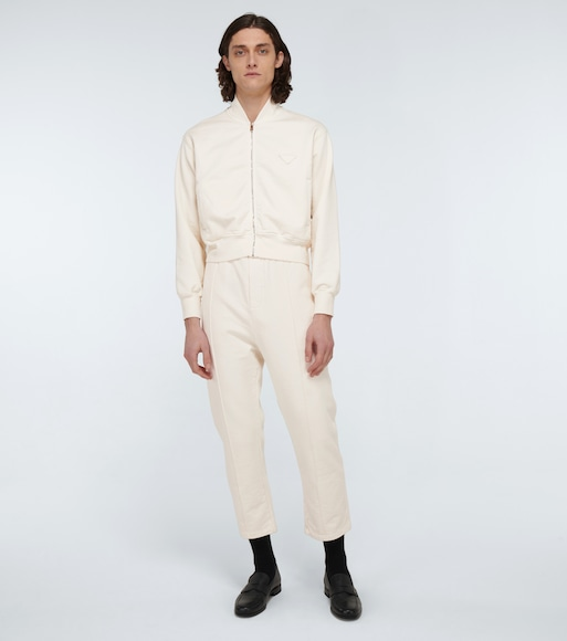 Prada - Garment-dyed cotton bomber jacket - mytheresa.com