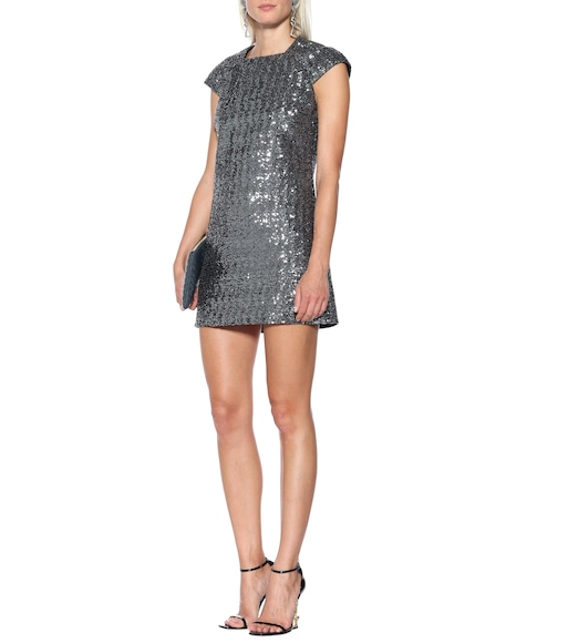 Saint Laurent - Sequined minidress - mytheresa.com