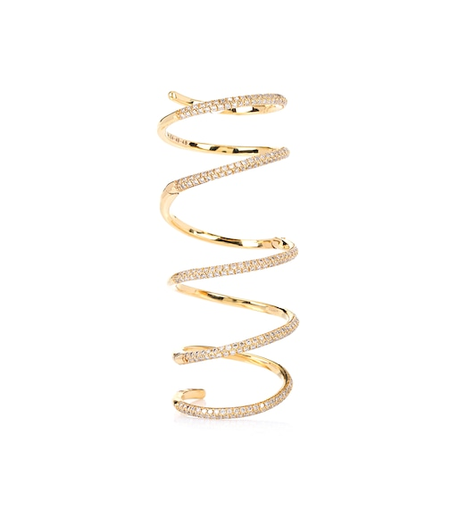 Stone Paris - Bliss Articulated 18kt gold ring with diamonds - mytheresa.com