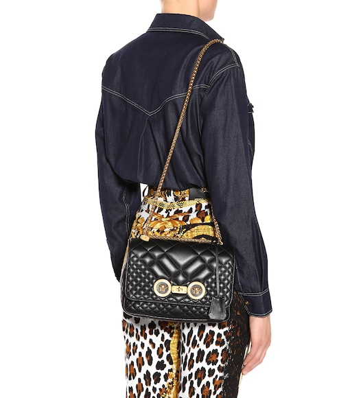 Versace - Icon quilted leather shoulder bag - mytheresa.com e6eb948bc2e30