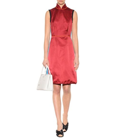 Prada - Silk satin dress - mytheresa.com
