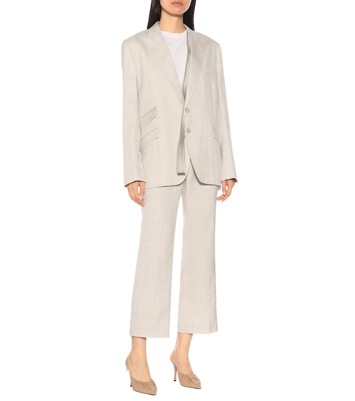 Stella McCartney - Cropped linen-blend pants - mytheresa.com