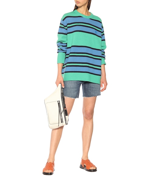 Acne Studios - Face wool sweater - mytheresa.com
