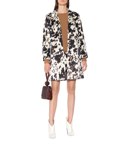 AlexaChung - Faux calf hair coat - mytheresa.com