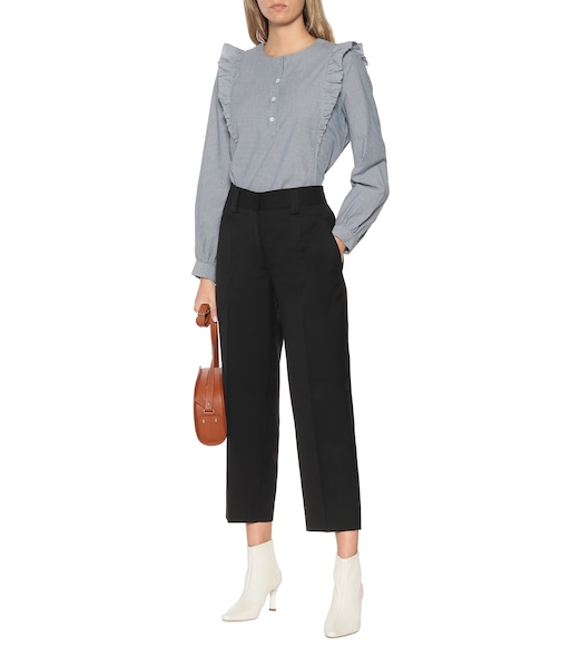 A.P.C. - Laure twill straight pants - mytheresa.com