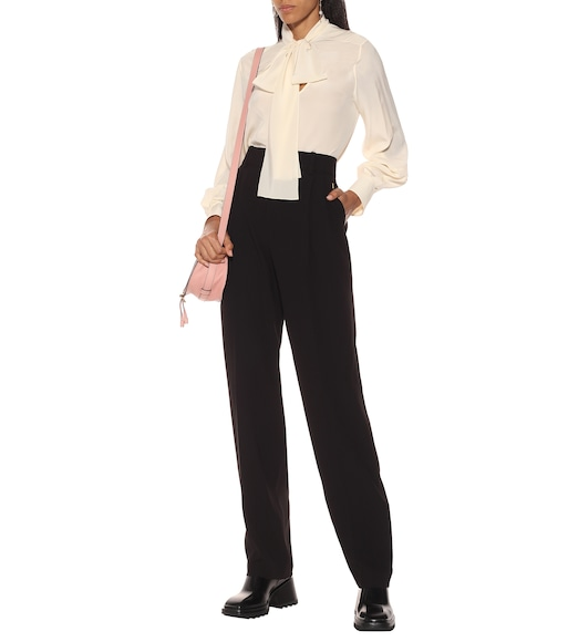 Chloé - High-rise straight crêpe pants - mytheresa.com