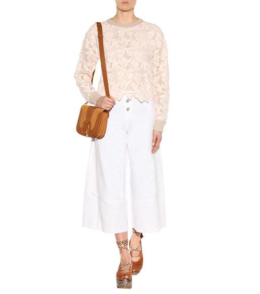 See By Chloé - Cotton lace sweater - mytheresa.com
