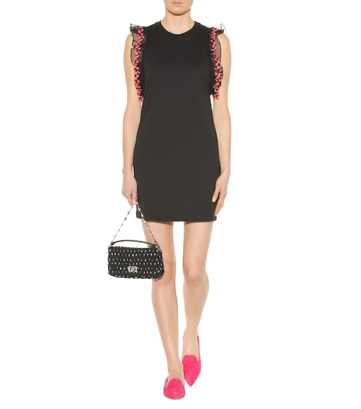 Giamba - Cotton jersey dress with lace - mytheresa.com