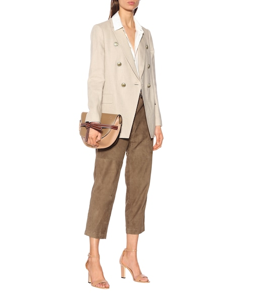 Brunello Cucinelli - Cotton and linen-blend double-breasted blazer - mytheresa.com