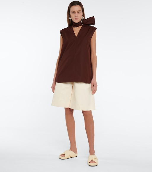 Jil Sander - Cotton poplin top - mytheresa.com