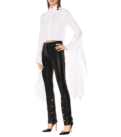 Loewe - Embellished leather pants - mytheresa.com