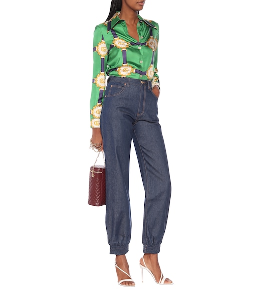Gucci - High-rise wide-leg jeans - mytheresa.com