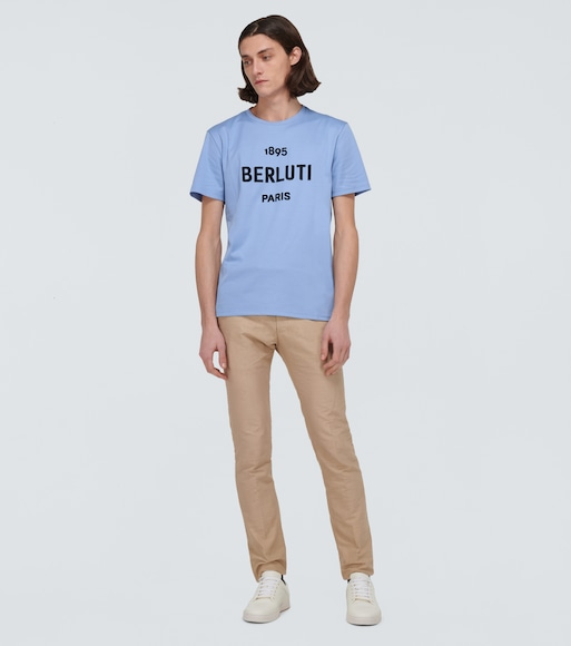 Berluti - Cotton T-shirt with logo - mytheresa.com