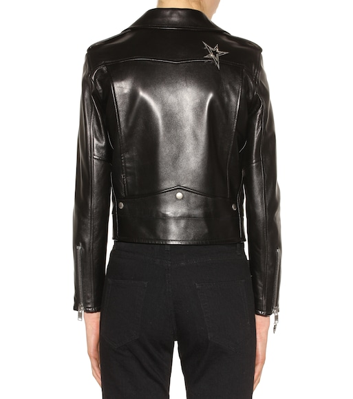 Saint Laurent - Leather biker jacket - mytheresa.com