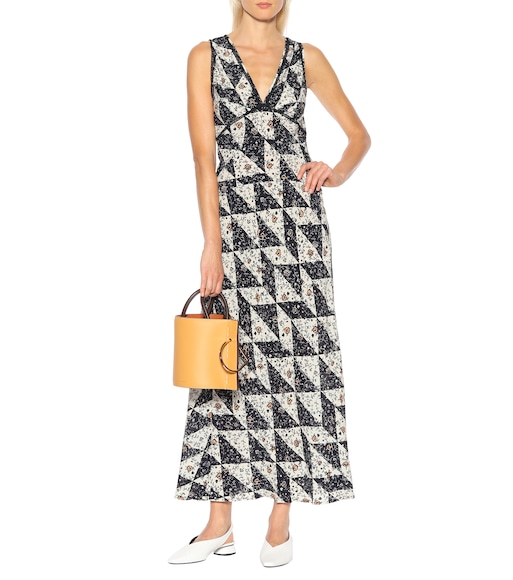 AlexaChung - Printed silk-blend dress - mytheresa.com