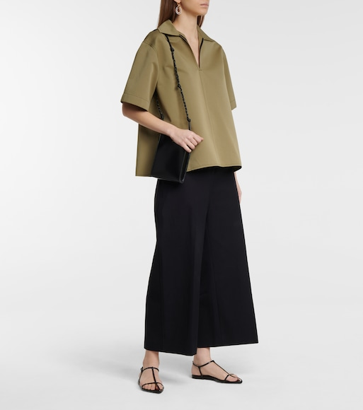 Jil Sander - Cotton and silk blouse - mytheresa.com