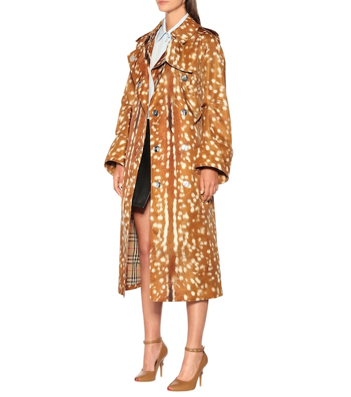 Burberry - Printed trench coat - mytheresa.com