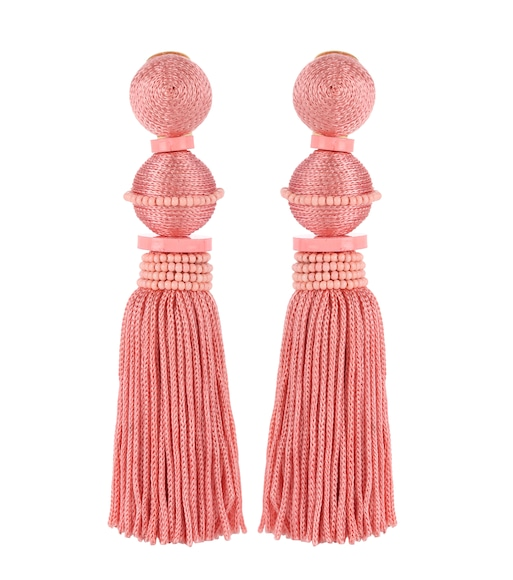 Oscar de la Renta - Tasseled clip-on earrings - mytheresa.com