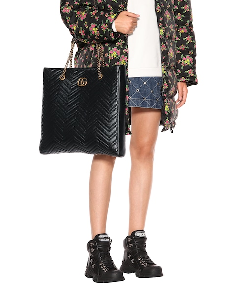 Gucci - GG Marmont Large leather tote - mytheresa.com