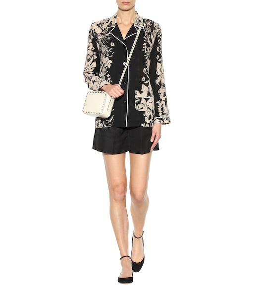 Valentino - Printed virgin wool blouse - mytheresa.com