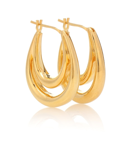 Sophie Buhai - Large Blanche 18kt gold-plated hoop earrings - mytheresa.com