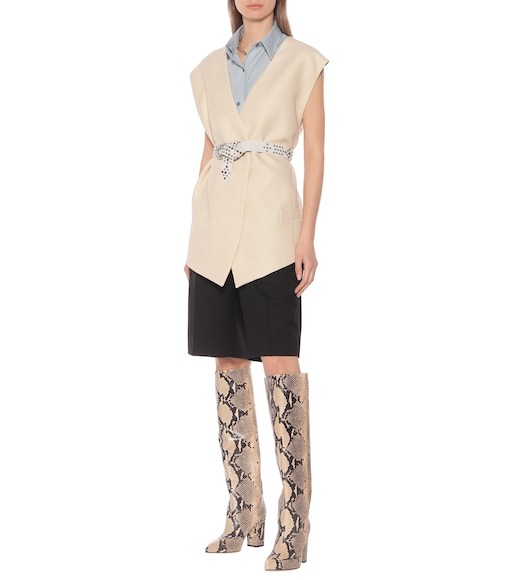 Paris Texas - Leather knee-high boots - mytheresa.com