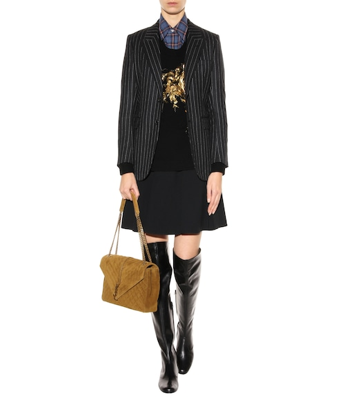 Saint Laurent - Babies 40 leather over-the-knee boots - mytheresa.com