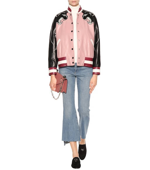 Valentino - Embellished leather jacket - mytheresa.com