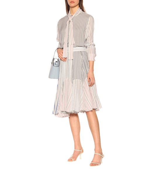 JW Anderson - Striped cotton midi skirt - mytheresa.com