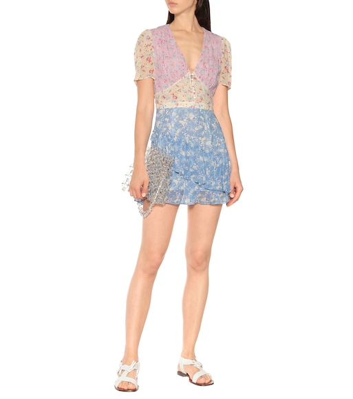 LoveShackFancy - Bea floral silk minidress - mytheresa.com