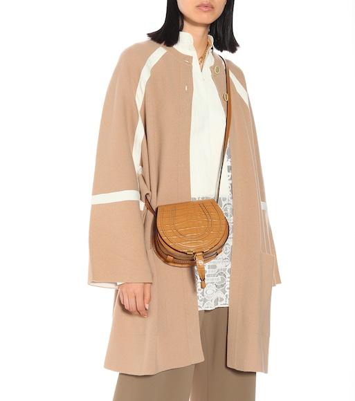 Marcie Small Croc Effect Shoulder Bag