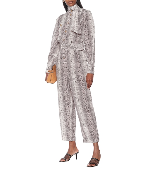 Zimmermann - Snake-effect silk jumpsuit - mytheresa.com