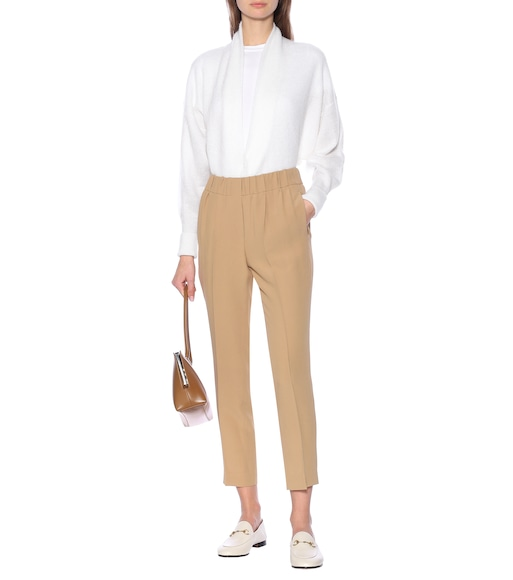 Brunello Cucinelli - Cropped silk-blend pants - mytheresa.com