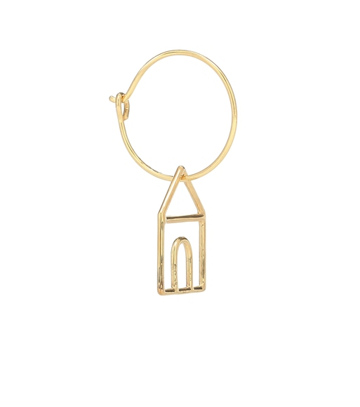 Aliita - Casita 9kt gold single hoop earring - mytheresa.com