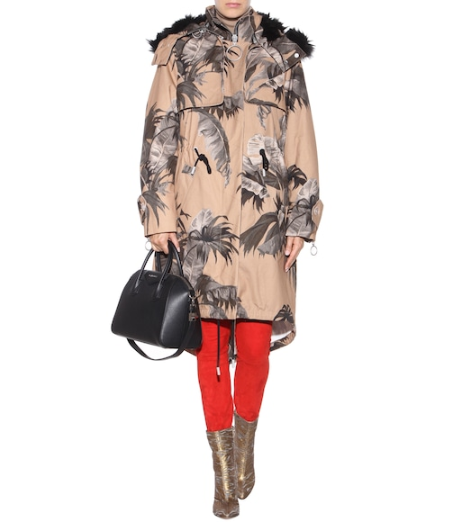 Off-White - Printed faux-fur lined parka - mytheresa.com