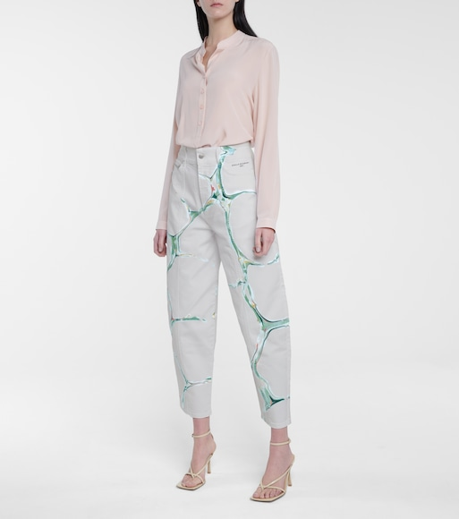 Stella McCartney - High-rise stretch-cotton carrot jeans - mytheresa.com