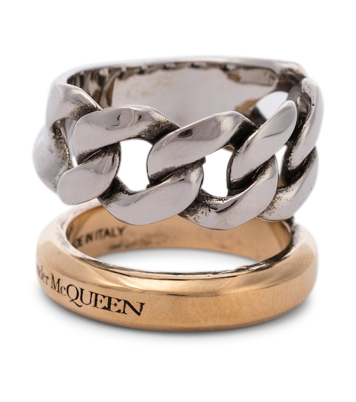 Alexander McQueen - Ring aus Messing - mytheresa.com