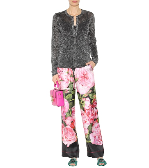 Dolce & Gabbana - Floral-printed silk trousers - mytheresa.com