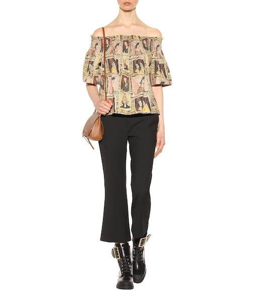 Burberry - Framed Heads printed cotton top - mytheresa.com