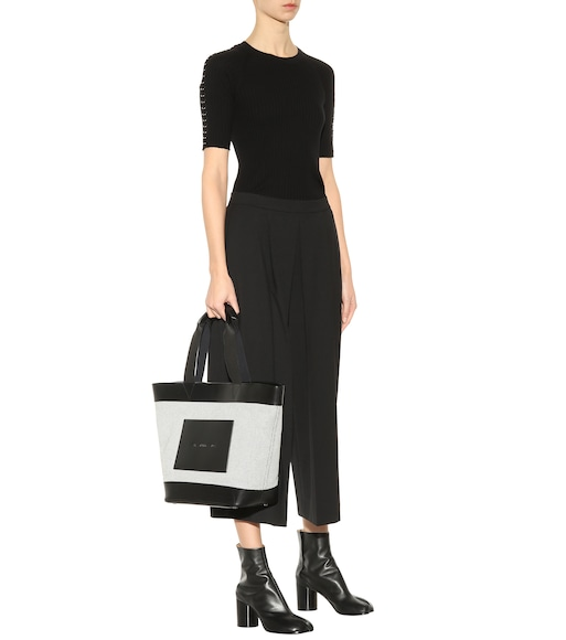 Alexander Wang - Leather and canvas tote bag - mytheresa.com