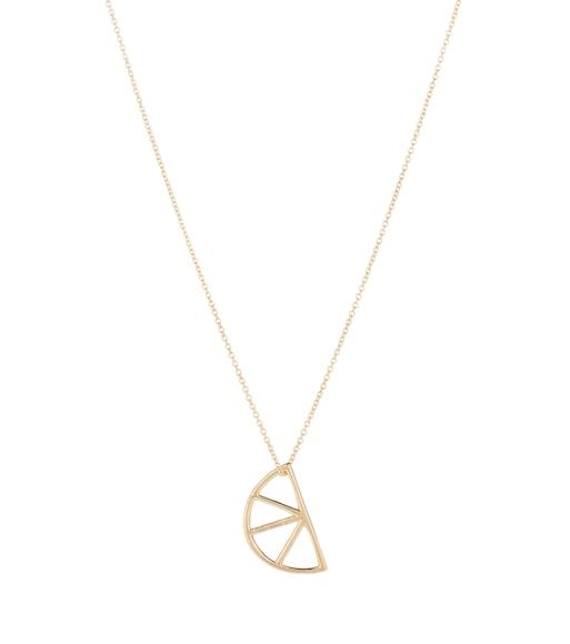 Aliita Media Naranja 9kt gold necklace qXDPkc