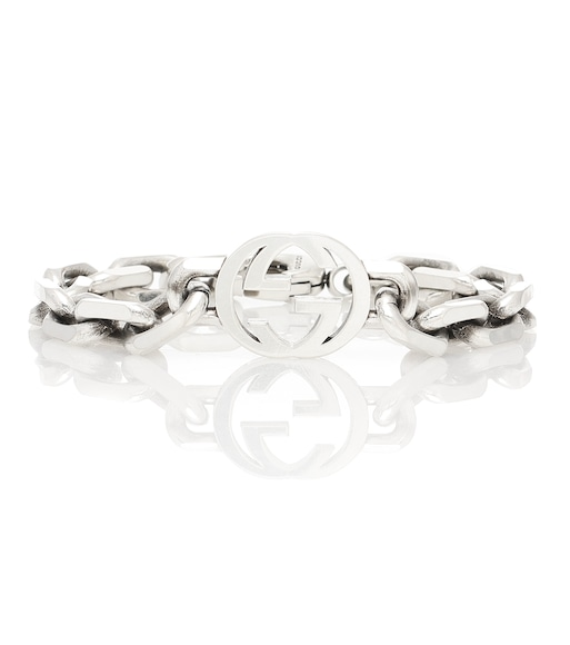Gucci - Interlocking G silver bracelet - mytheresa.com