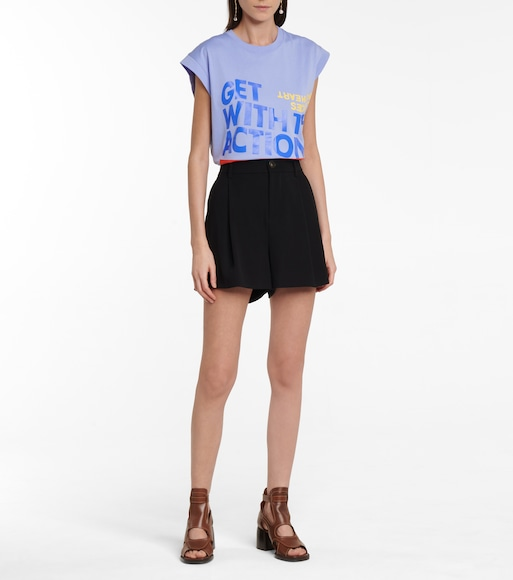 Chloé - Printed cotton jersey T-shirt - mytheresa.com
