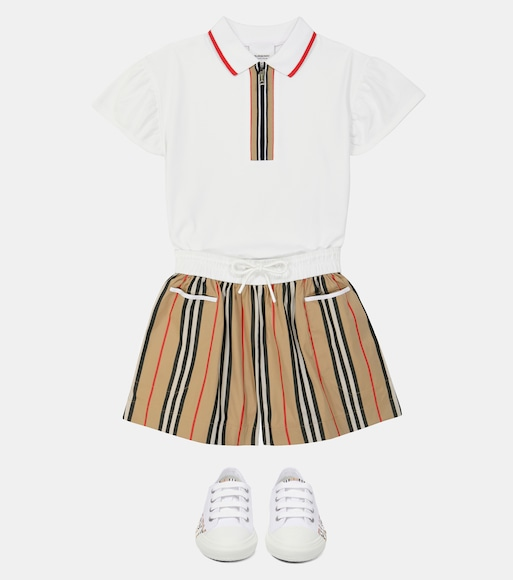 Burberry Kids - Icon Stripe cotton piqué polo shirt - mytheresa.com