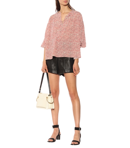 Isabel Marant - High-rise leather shorts - mytheresa.com