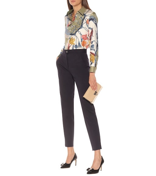 Salvatore Ferragamo - High-rise jersey pants - mytheresa.com