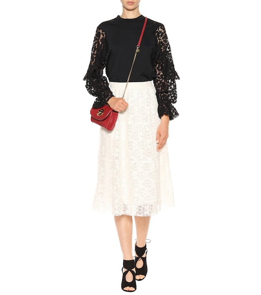 See By Chloé - Lace-sleeved cotton top - mytheresa.com