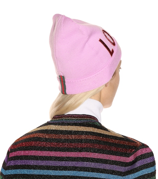 Gucci - Sequinned wool beanie - mytheresa.com