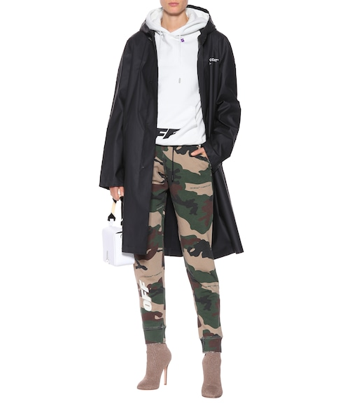 Off-White - Quote printed raincoat - mytheresa.com